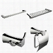 AI-14008 Single And Multi-Rod Towel Rack With Robe Hook And Toilet Paper Holder Accessory
