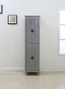"WLF7038 72"" Tall Side Cabinet with 2 Soft Closing Doors Decorative Hardware and Diamond Moldings on the Doors in"