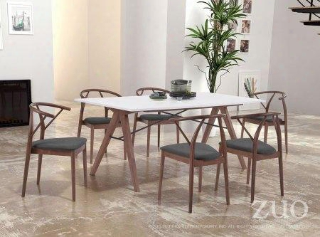 "100143 71"" Dining Table Complete With 6 Dining"