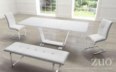 "102130 63"" Rectgangular Glass Top Dining Table Wit H2 Dining Chairs And A Bench In"