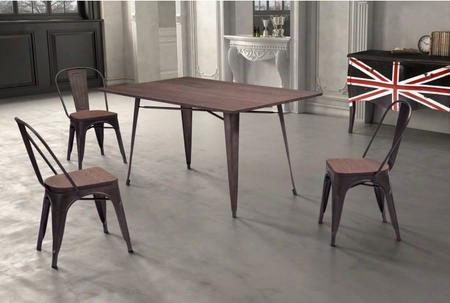 "109127 59"" Non-stackable Rectangular Dining Table Complete With 3 Dining"