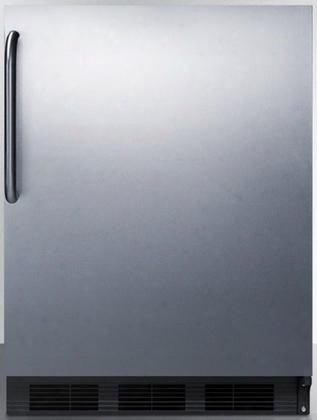 """Al652bbisstb 24"""" Ada Compliant Compcat Refrigerator With 5.1 Cu. Ft. Capacity Cycle Defrost Adjustable Glass Shelves Dual Evaporator Interior Light And"""