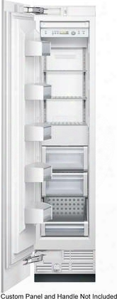 "B18if800sp 18"" All Freezer With 8.6 Cu. Ft. With Ice Maker Quick Ice Led Lighting No Frost Super Freezing Multi Airflow And Energy Star In Custom Panel"
