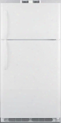 "Bkrf15w 28"" Top Freezer Refrigerator With 14.75 Cu. Ft. Capacity Temperature Alarm Crisper Door Storage And Frost Free Operation In"