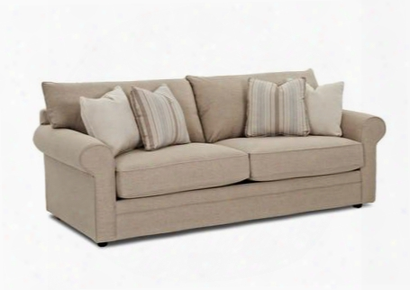 """Comfy 36330-s-lh-mm-gp 89"""" Sofa With Rolled Arms Unattached Back Cushions And Welt Details In Lucas Hemp And Pillows In Mayley"""