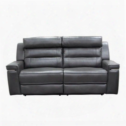 "Duncan Duncanrsogr 81"" Dual-reclining Sofa With Waterfall Back Headrest Support And Slate Grey"