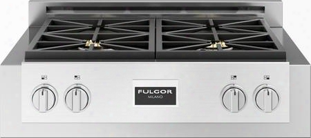 """F6grt304s1 30"""" 600 Series Gas Range Top With 4 Sealed Dual Fla Me Burners True Low Simmer Matte Finish On Cast Iron Grates And Burner Caps In Stainless"""