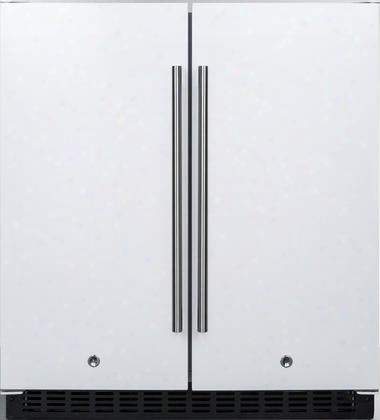 "Ffrf3075w 30"" Compact Side By Side Refrigerator And Freezer With 5.4 Cu. Ft. Capacity Frost-free Operation Factory Installed Lock Led Lighting Digital"