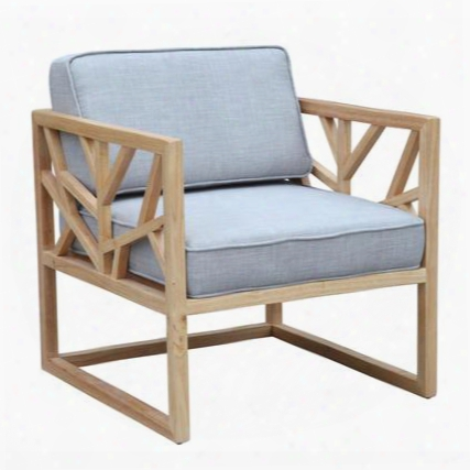 "Fmi1009-gray 28"" Silent Lounge Chair With Wool Fabric Upholstery Solid Oak Frame And Piped Stitching In"
