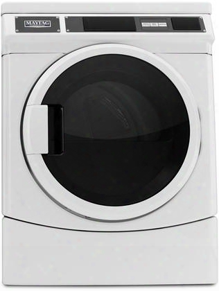 "Mde28pdcyw 27"" Super-capacity Front Lo Ad Dryer With 6.7 Cu. Ft. Capacity Turbovent Dryer Technology Microprocessor Controls And Porcelain-enamel Top:"