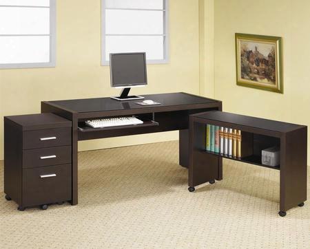 Skylar 800901set 3 Pc Desk Set With Computer Desk + Mobile Return + Mobile File