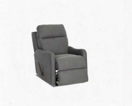 """Tacoma 91803hrrc 28"""" Reclining Rocking Chair With Shaped Arms Full Chaise Pad Lounge Pad And Tufted Back Cushion In Microsuede"""