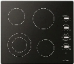 "F3RK24S2 24"" 300 Series Electric Cooktop with 4 Radiant Elements Lateral Knobs Hot Surface Indicator and Residual Heat Indicator in Black with Aluminum"
