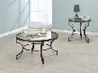 Fairhaven 704458CE 2 PC Living Room Table Set with Coffee Table + End Table in in Bronze