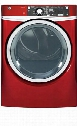 "GFD48ESPKRR 28"" Front load Electric Dryer with 8.3 cu. ft. Capacity and Steam Cycle in Ruby"