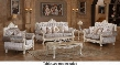 Venice 638-S-L-C 3 PC Living Room Set with Sofa + Loveseat + Chair in Pearl White