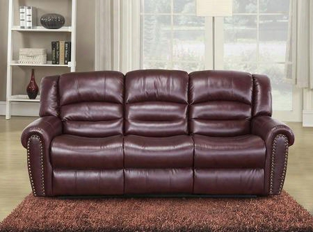 "Chelesa 686-s 85"" Rocker Reclining Sofa  With Top Quality Bonded Leather Upholstery Nail Head Design And Removable Backs In"