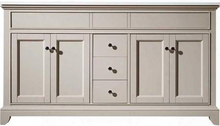 "Erin Hd-6004-59-qz 59"" Double Sink Vanity With 4  Doors 3 Soft-closing Drawers And Quartz Countertop In"