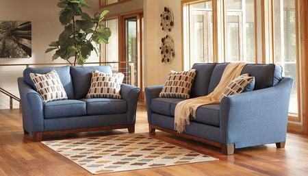 Janley 43807sl 2-piece Living Room Set With Sofa And Loveseat In