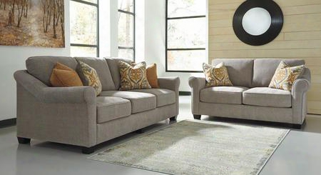 Leola 53601sl 2-piece Living Room Set With Sofa And Loveseat In