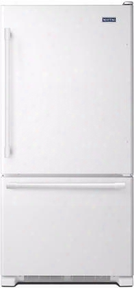"Mbf2258few 33"" Bottom Mount Freezer Refrigerator With 22.07 Cu. Ft. Total Capacity 2 Half Width Shelves Humidity-controlled Freshlock Crispers Deli Drawer"
