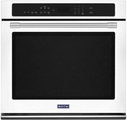 """Mew9530fw 30"""" Single Wall Oven With True Convection 5 Cu. Ft. Capacity Precision Cooking System Variable Broil Digital Display Timer And Incandescent"""