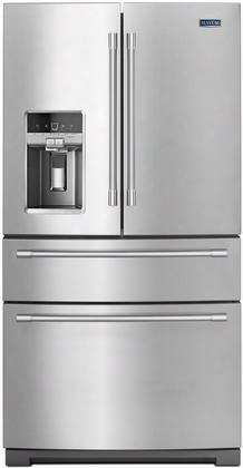 "Mfx2676frz 36"" Ada Compliant 3 Door French Door Refrigerator With Pantry 26.17 Cu. Ft. Total Capacity Powercold Dual Cool Evaporators And Cie And Water"