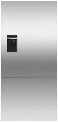 Rf170bloux6 Bottom Mount Counter Depth Refrigerator With 17.6 Cu. Ft. Total Capacity Ice And Water Dispenser Left Hinged Door Door Storage And Pocket Handle