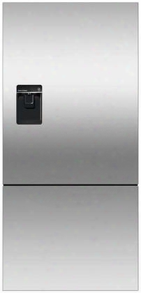 Rf170blpux6 Bottom Mount Counter Depth Refrigerator With 17.6 Cu. Ft. Total Capacity Ice And Water Dispenser Left Hinged Door Door Storage And Pocket Handle