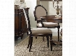 "Eastridge Series 5177-75410 40"" Traditional-Style Dining Room Oval Back Side Chair with Turned Legs Carved Detailing and Fabric Upholstery in"