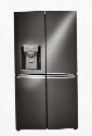 LNXC23766D French Door Counter Depth Refrigerator with 23 cu. ft. Total Capacity and 4 Doors in Black Stainless