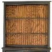 "Royers 4650102BMC 38"" Hutch with 2 Shelves and Distressed Detailing in Black and Michaels Cherry"