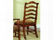 "Waverly Place Series 366-75-410 43"" Traditional-Style Dining Room Ladderback Side Chair with Turned Legs Stretchers and Fabric Upholstery in"