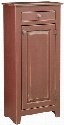 "Zoe 4650203CR 22"" Pie Safe with 1 Door 1 Drawer Simple Knobs Proudly Made in the U.S.A. and Premium Grade Pine Wood Construction in Cranberry Red"