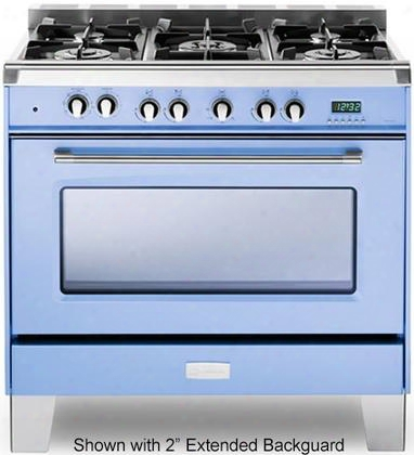 "Vclfsge365 36"" Classic Series Dual Fuel Range With 4 Cu. Ft. European Convection Oven 5 Sealed Gas Burners Cast-iron Grates Ez Clean Porcelain Oven Surface"