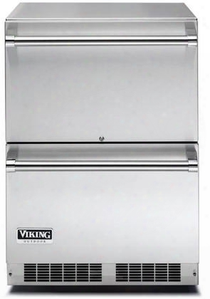 """Vduo5240dss 24"""" Energy Star Rated Professional 5 Series Undercounter Refrigerator Drawers With 5 Cu. Ft. Capadity Dynamic Cooling System Sabbath Mode Close"""