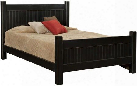 Verdad Shaker 465132qwb Queen Size Panel Bed With Premium Grade Pine Wood Construction And Proudly Made In The Usa In Black