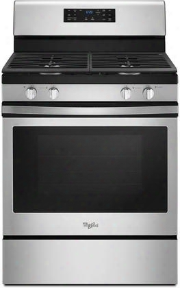 """Wfg520s0fs 30"""" Gas Range With 4 Sealed Burners 5 Cu. Ft. Capacity Self Clean Convection Locking Grates And Frozen Bake Technology In Stainless"""