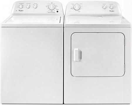 "White Front Load Laundry Pair With Wtw4616fw 28"" Washer And 3.5 Cu. Ft. Capacity And Wgd4616fw 29"" Gas Dryer With 7.0 Cu. Ft."