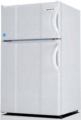 "3.0lmf4rw 19"" Energy Star Top Freezer Compact Refrigerator With 3 Cu. Ft. Capacity 0 Degree Freezer Tall Bottle Storage And Crisper In White And Left"