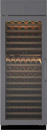 "Bw-30/o-lh 30"" Built-in Column Wine Storage With 146 Bottle Capacity 15 Wine Racks Uv-resistant Glass Door Two Independent Temperature Zones And Dual"