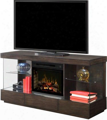 "Camilla Gds25ld1591mk 72"" Modern Media Console Complete With Pf23255hl 25"" Firebox With Logs Multi-function Remote Heat Boost In A Mink"