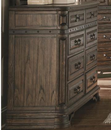 """Carlsbad 204043 64.25"""" Dresser With 8 Drawers Matte Black Handles Solid Wood And Pine Wood Veneer In Vintage Espresso"""