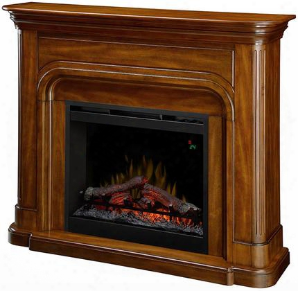 "Dawson Dfp26l1339bw 52"" Contemporary Mantel Package Complete With Df2624l 26"" Log Firebox With Multi-function Remote And Thermostat Control In A Burnished"