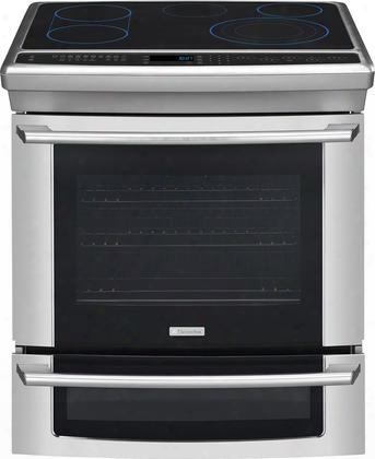 "Ei30es55ps 30"" Electric Built-in Range With Iq-touch Controls Fast Preheat Perfectconvect Luxury-glide Oven Rack 6 Cooking Modes In Stainless"