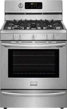 "Fggf3060sf 30"" Gas Freestanding Range With 5 Burners 10000 Btu Center Oval Burner True Convection Keep Warm Setting Self-clean In Stainless"
