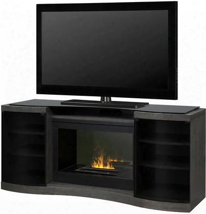 "Gos40c1499sc 72"" Quintus Fireplace Complete With Dfi400ch Opti-myst Cassette Fan Forced Heater And Includes Remote Control In Silver Charcoal"