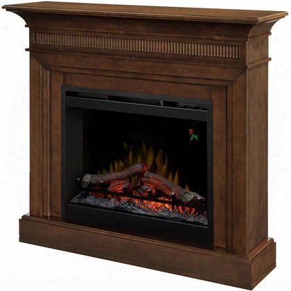 "Harleigh Dfp26l1475wn 43"" Traditinal Mantel Package Complete With Df2624l 26"" Log Firebox Multi-function Remote Supplemental Heat And Thermostat Contro In A"
