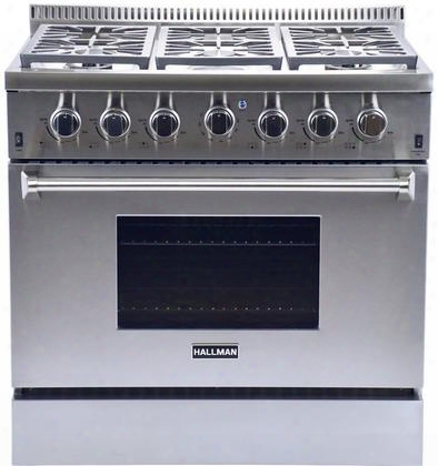 "Hgr3602lp 36"" 5.2 Cu. Ft. Professional Convection Gas Range With 6 Sealed Burners Up To 84 000 Btus 22 000 Btu Convection Oven And 16 500 Btu Infrared Broiler"
