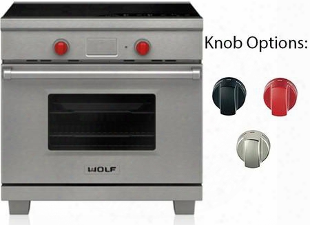"Ir365pe/s/ph 36"" Star K Rated Professional Freestanding Induction Range With 5 Induction Zones 5 .4 Cu. Ft. Oven Capacity Dual Convextion Oven 10 Cooking"